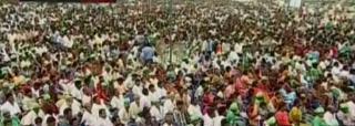 راجمندری میں کرن کمار ریڈی کے جلسہ عام کا آغاز
