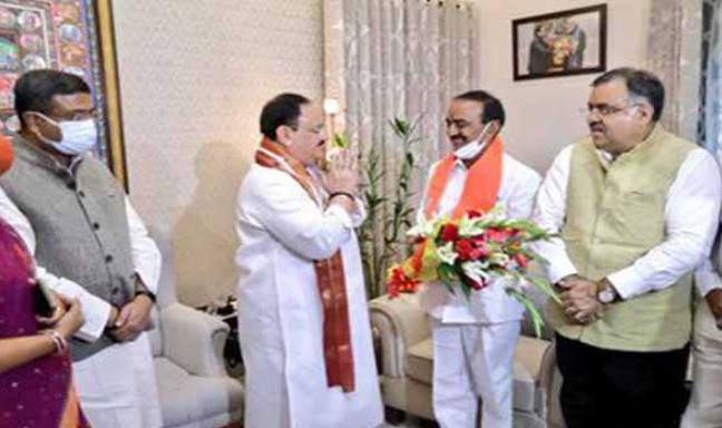 تلنگانہ کے سابق وزیر ای راجندر نے دہلی میں بی جے پی میں شمولیت اختیار کرلی