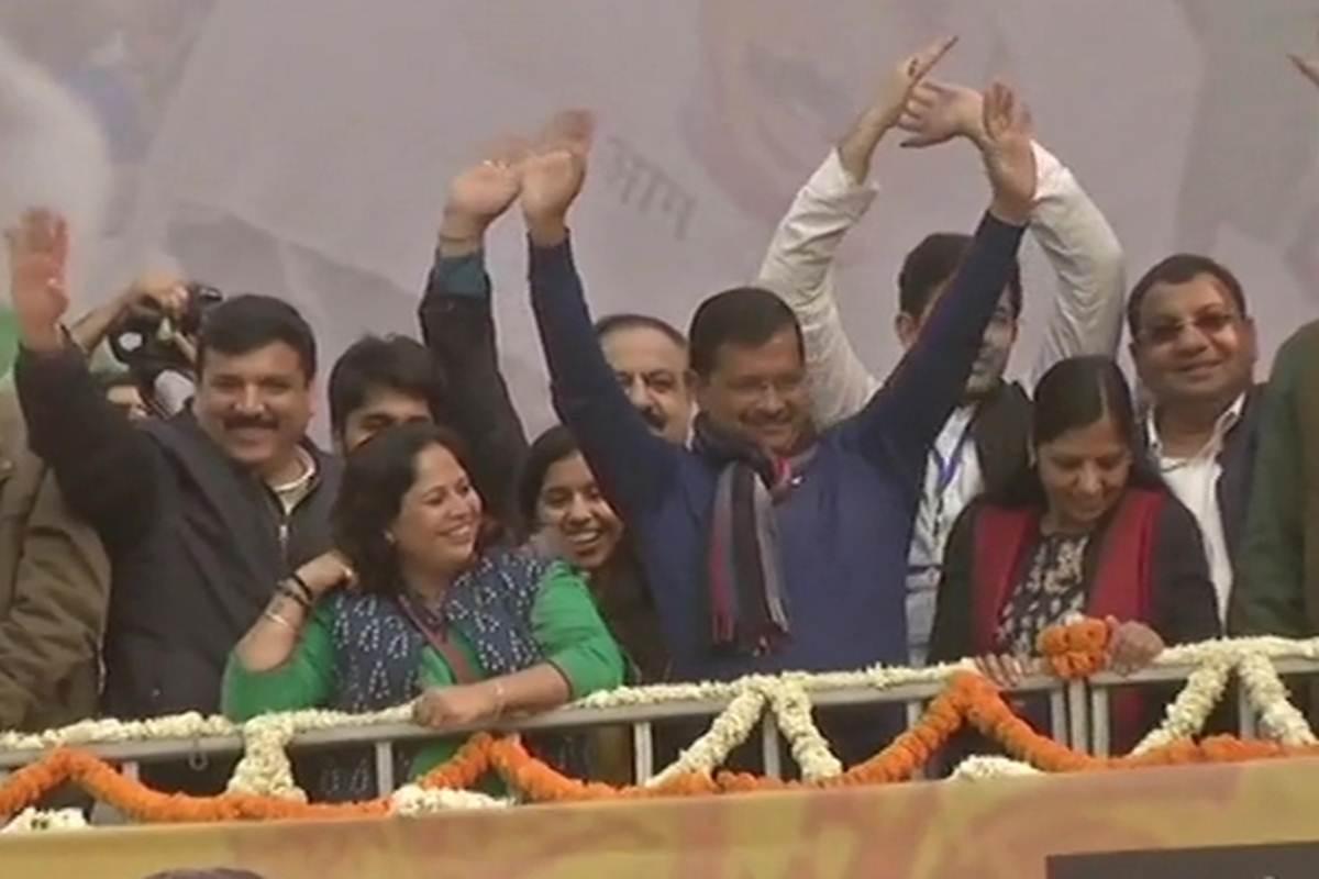 کیجریوال مسلسل تیسری بار دہلی کے وزیر اعلی بننے جارہے ہیں
