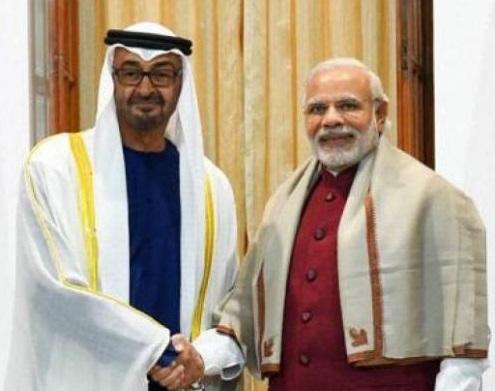"""یو اے ای کا وزیر اعظم نریندر مودی کو اعلی ترین """"زاید"""" اعزاز"""