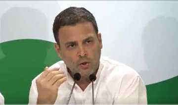 معیشت میں بہتری کا حکومت کے پاس کوئی منصوبہ نہیں :راہل