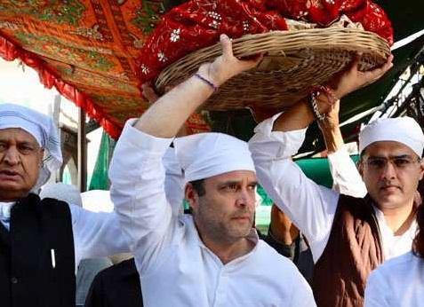 درگاہ اجمیر میں حاضری،مندر کے درشن:راہل