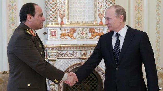 فیلڈ مارشل السیسی کوصدارت کیلیے روسی حمایت حاصل ہو گئی
