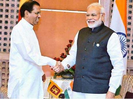 سری لنکا کے صدر سے کاٹھمنڈو میں مودی کی ملاقات