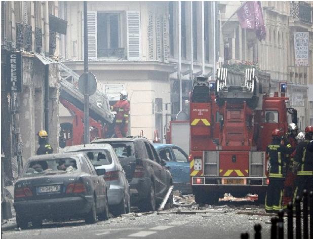 پیرس میں طاقت ور بم دھماکہ، 20 سے زیادہ لوگ زخمی