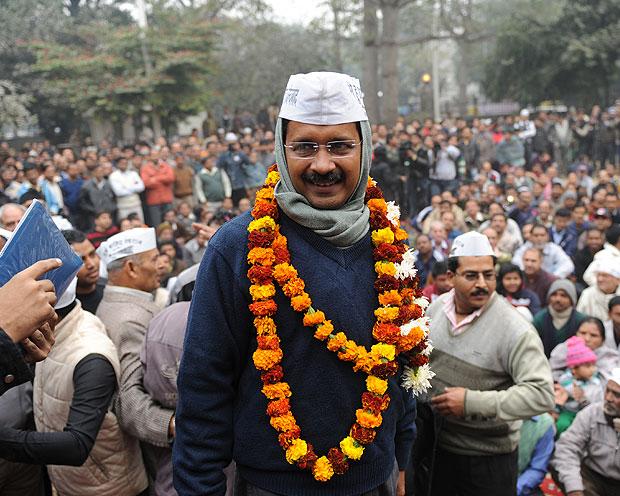 دہلی میں عام آدمی پارٹی کا حکومت کے قیام کا فیصلہ