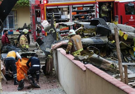 تُرکی کے شہر استنبول میں فوجی ہیلی کاپٹرگر کرتباہ، 4 فوجی ہلاک