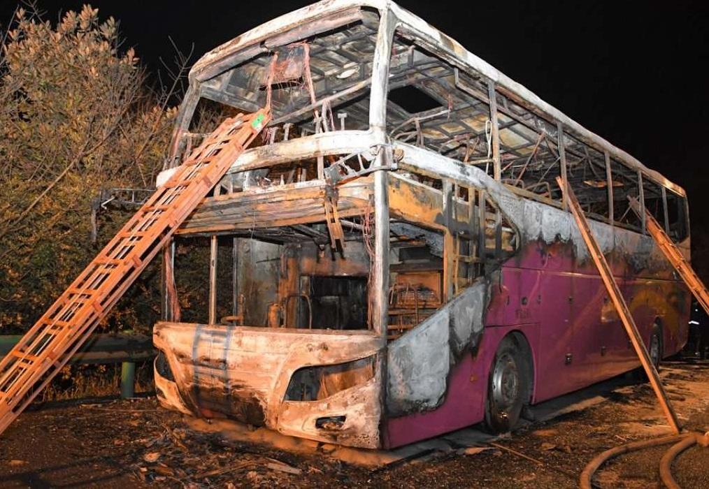 چین میں سیاحوں کی بس میں آگ، 26 ہلاک، 28 زخمی
