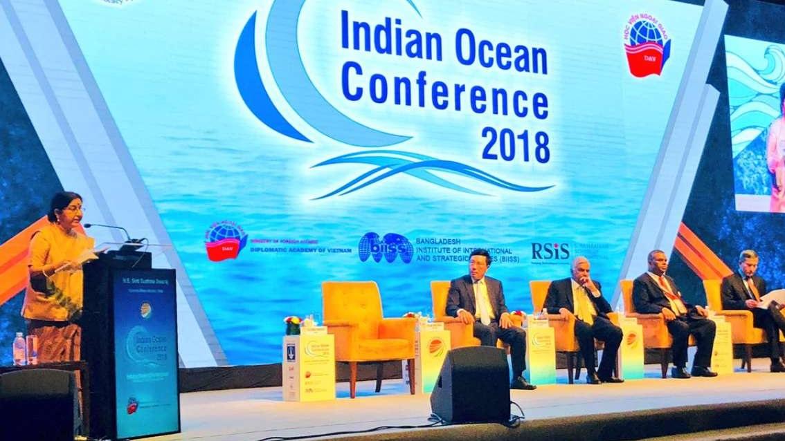 سشما سوراج کی بحر ہند خطہ میں امن کی اپیل