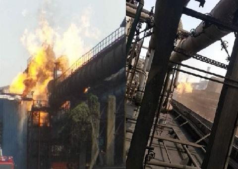 بھلائی اسٹیل پلانٹ میں گیس رساؤ سے آگ لگی، 12 افراد ہلاک، 10 زخمی