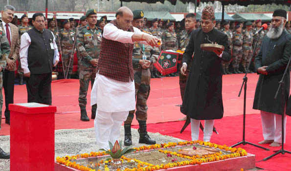 راج ناتھ سنگھ نے بری فوج کے نئے ہیڈکوارٹر'تھل سینا بھون ' کا سنگِ بنیاد رکھا