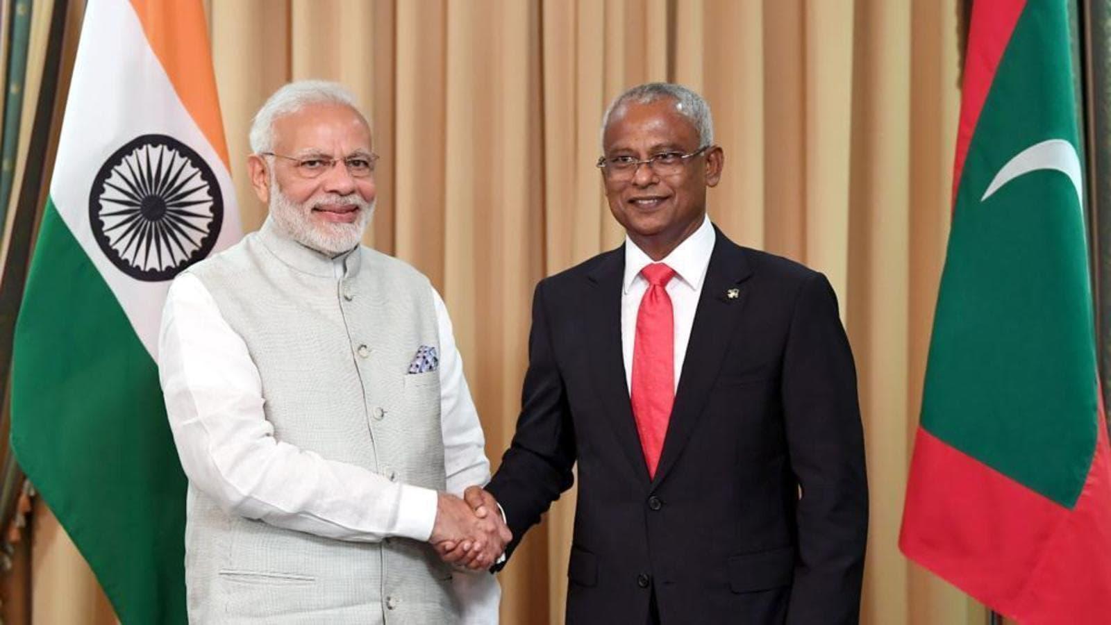 وزیراعظم مودی اور مالدیپ کے صدرکی دو طرفہ تعلقات پر بات چیت