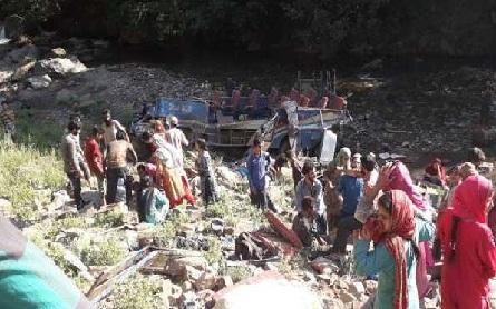 کشتواڑ میں ہلاکت خیز سڑک حادثہ، 35 افراد ہلاک اور دیگر 17 زخمی