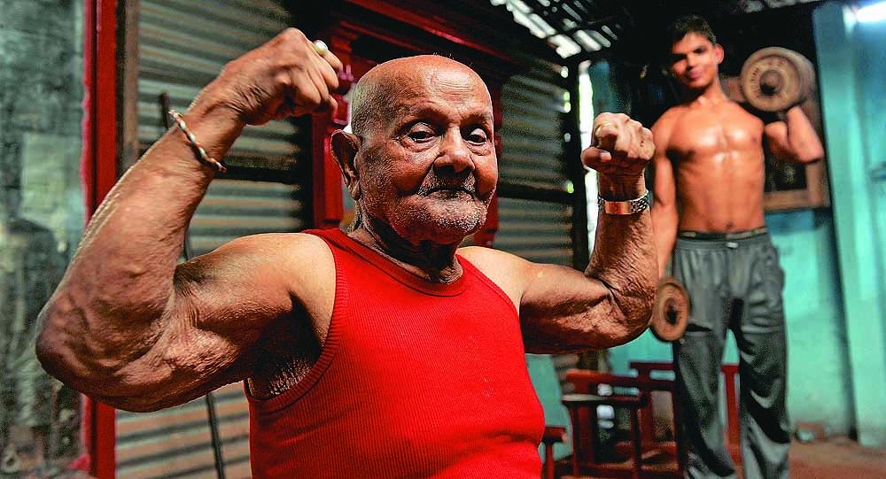 101 سال کا باڈی بلڈر