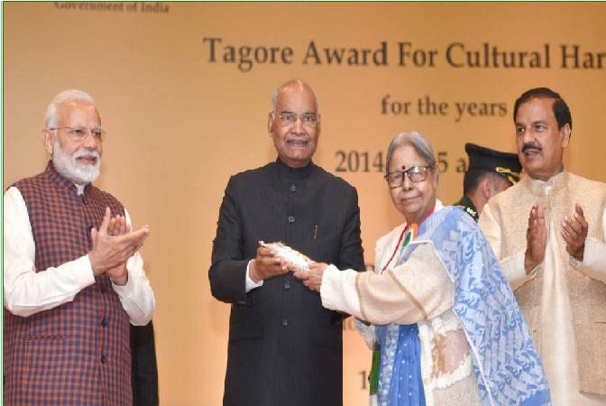 کووند نے رام ستار اور راج کمار کو ٹیگور ایوارڈ سے نوازا