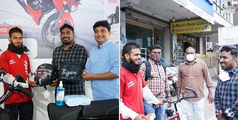 سائیکل سے 9 کلومیٹر دور ڈلیور کیا کھانا، لوگوں نے جذبہ دیکھ بائیک خرید کر دے دی