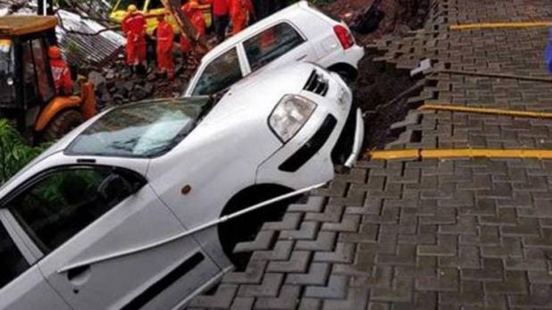 پونے: بارش سے گری سوسائٹی کی دیوار، 4 بچوں سمیت 15 لوگوں کی موت