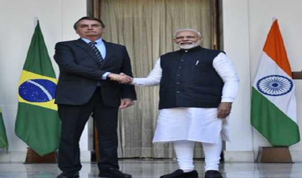 ہندوستان اور برازیل نے 15 معاہدوں پر دستخط کئے