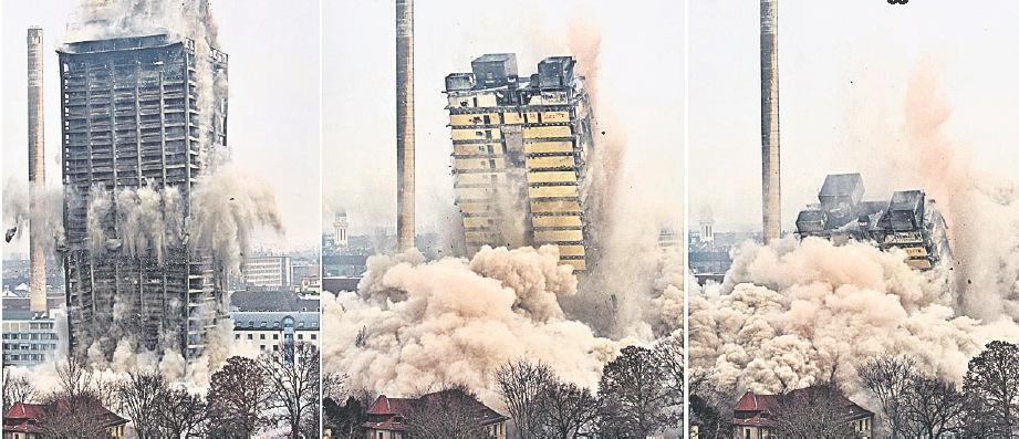ایک بلند ٹاور جو لمحوں میں زمین بوس کردیا گیا!!!