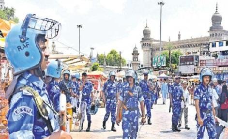 مکہ مسجد بم دھماکہ کی برسی پر پرانے شہر میں سخت سیکیورٹی انتظامات