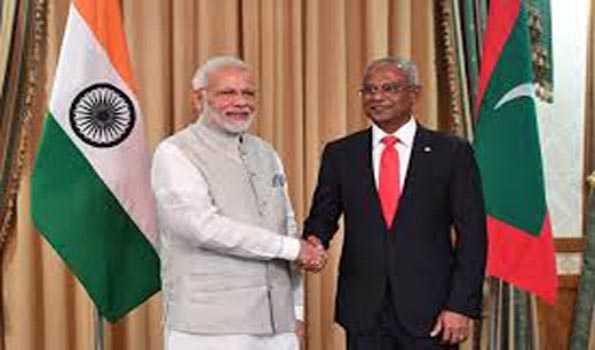 مودی نے مالدیپ کے صدر کے ساتھ کورونا وبا پر گفتگو کی