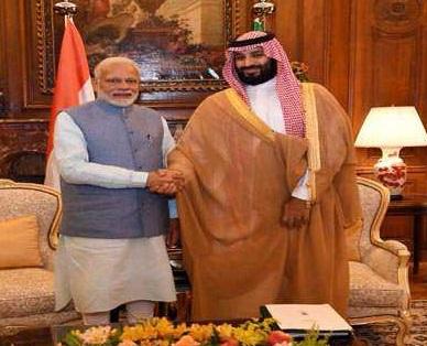 مودی کی ولی عہد شہزادہ محمد بن سلمان کے ساتھ میٹنگ