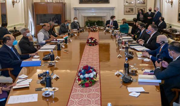 ہندستان۔ امریکہ کے مابین اہم دفاعی معاہدہ بی ای سی اے پر دستخط