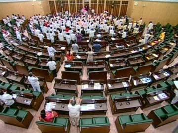اسمبلی اجلاس میں تلنگانہ مسودہ بل مسترد'اسمبلی اجلاس غیر معیہ ندت کے لئے مملتوی