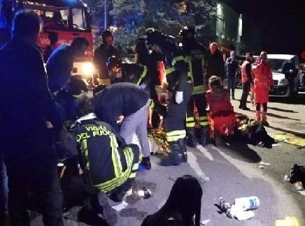 اٹلی کے نائٹ کلب میں اچانک بھگدڑ، 6 لوگوں کی موت