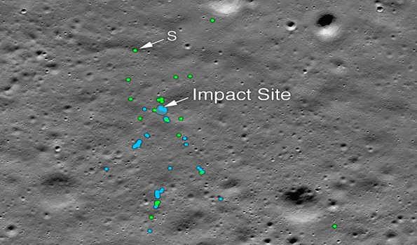 ناسا نے چندریان 2کے لینڈر وکرم کے ملبہ کا چاند کی سطح پر پتہ چلایا