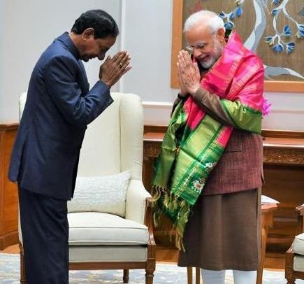 وزیراعظم سے تلنگانہ کے وزیراعلی کی دہلی میں ملاقات