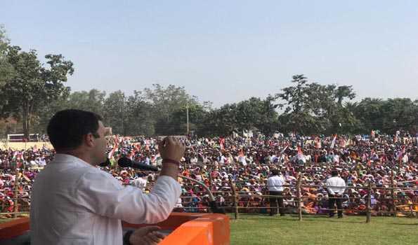 کانگریس کی حکومت بننے پر کسانوں کا قرض 10 دنوں میں معاف ہوگا: راہل گاندھی