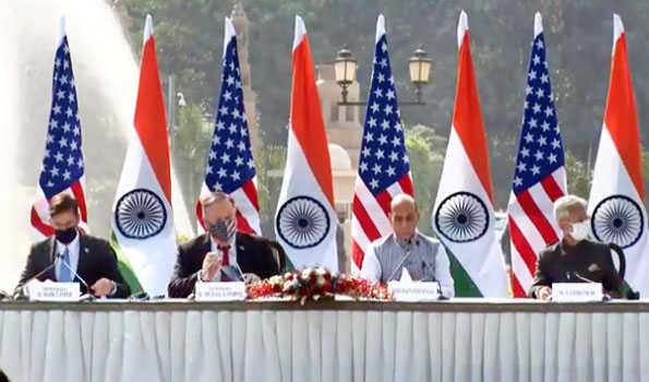ہندستان اور امریکہ نے تبادلے اور تعاون کے ایک بنیادی سمجھوتے پر دستخط کئے