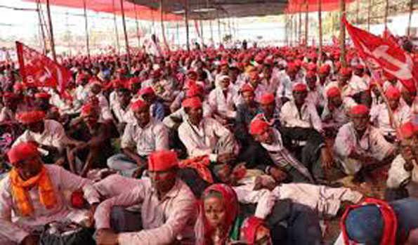 ملک بھر میں محنت کشوں کی ہڑتال ، کسانوں کا احتجاج