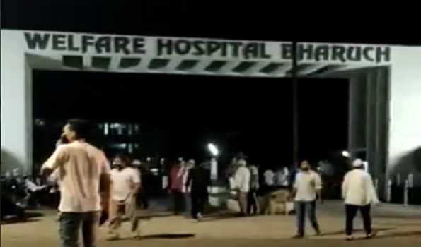 گجرات کے کورونا اسپتال میں آتشزدگی ، کم از کم 18 افراد لقمہ اجل