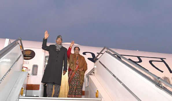صدر جمہوریہ کووند ایئر انڈیا ون-بی 777 کی افتتاحی پرواز پر چنئی روانہ