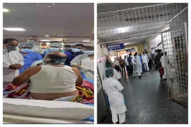 وزیراعلی تلنگانہ کا گاندھی اسپتا ل کا معائنہ۔ کوویڈ کے مریضوں کے بہتر علاج کی ہدایت