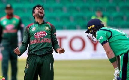 بنگلہ دیش نے آئر لینڈ کو چھ وکٹ سے شکست دی