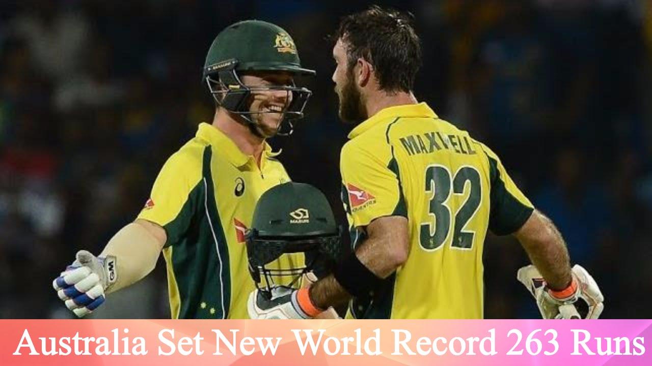 آسٹریلیا نے ٹی 20 کرکٹ کا نیا ریکارڈ قائم کر دیا