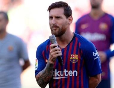 بارسلونا کی جیت میں ا سٹار بنے میسی