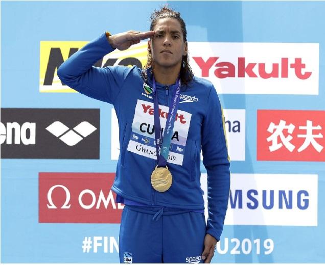 برازیل نے عالمی فنا سوئمنگ میں طلائی تمغہ جیتا