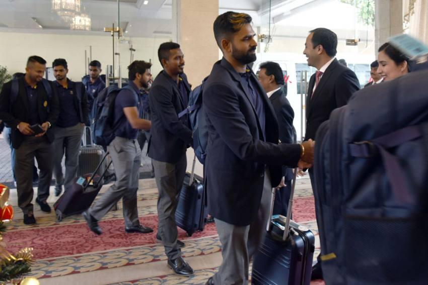 سری لنکا ٹیسٹ ٹیم 10 سال بعد پاکستان پہنچی