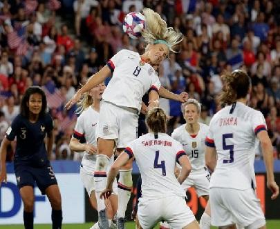 فرانس کو شکست دیکر امریکہ خاتون ورلڈ سیمی فائنل میں