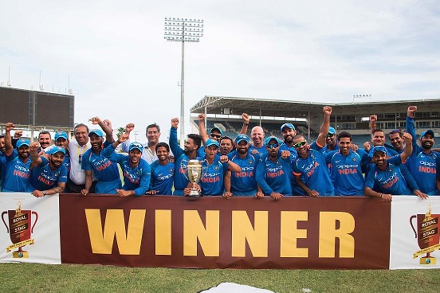 ہندوستان نے ویسٹ انڈیز کے خلاف سیریز جیت لی