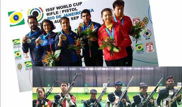 ہندستان نے پانچ طلائی سمیت جیتے نو تمغے