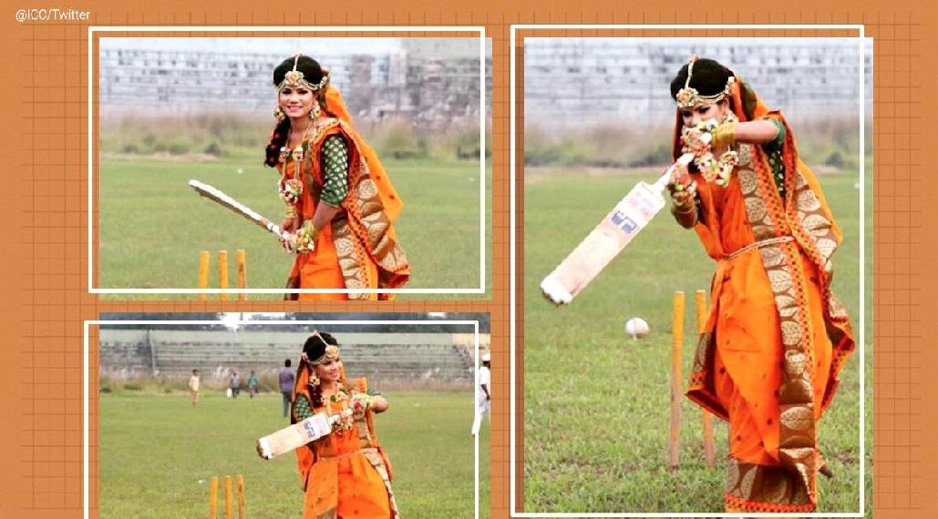 بنگلہ ديش میں سنجيدہ کی شادی کے لباس ميں کرکٹ پر تنازعہ