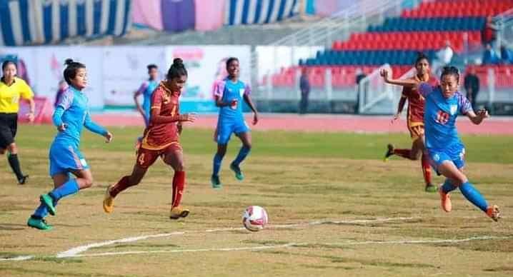 ہندستانی خاتون فٹ بال ٹیم نے سری لنکا کو 6-0 سے ہرایا