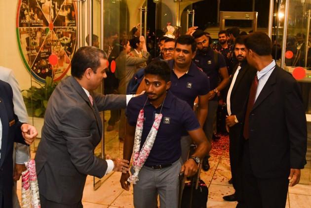 صدر کی سطح کی سیکورٹی کے درمیان سری لنکا کی ٹیم پاکستان پہنچی