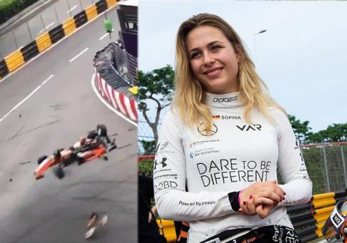 فارمولہ 3 مکاؤ ریس میں 17 سالہ لڑکی کی ریڑھ کی ہڈی ٹوٹی' گاڑی کی اسپیڈ 275 فی کلو میٹر تھی