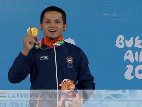 جریمی نے یوتھ اولمپک میں ہندوستان کو پہلا سونے کا تمغہ دلایا